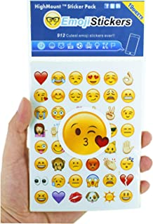HighMount Happy Emoji Stickers 19 Sheets with Emojis Faces Christma Kid Stickers from iPhone Facebook Twitter