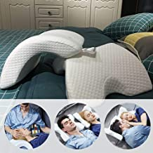 Darbar Online Romantic Couple Sleeping Pillow, Slow Rebound Pressure, Anti-Hand Numb & Anti Snore