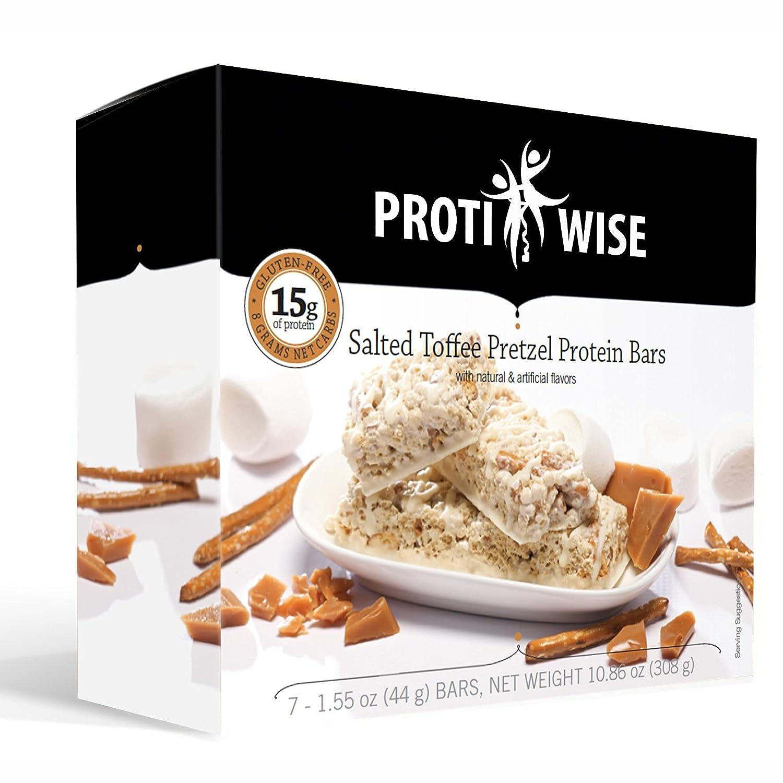 Phoenix Mall ProtiWise - Salted Manufacturer OFFicial shop Toffee Pretzel High Bars Ba Protein 84 Diet