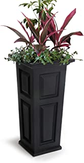 Mayne 4833B Nantucket Tall Planter, 15.5 by 15.5 by 32-Inch, Black