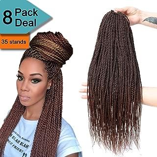Senegalese Twist Crochet Braids Havana Mambo Twist Crochet Hair Avaliable for Women Fiber Synthetic Braiding Hair Extension 8Packs/Lot 35Stands/Pack 1B/30