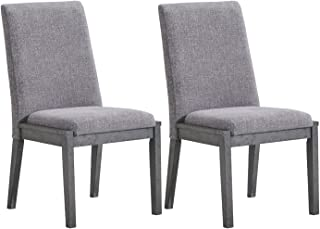 Signature Design By Ashley - Besteneer Dining Upholstered Side Chair - Set of 2 - Contemporary Style - Dark Gray