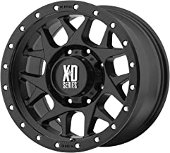 17x9 KMC XD Offroad Series XD127 Bully 5x127-12 Offset (4.53 inch backspace) 78.3 Hub - Satin Black With Reinforcing Ring - XD12779050712N [ Authorized Dealer]