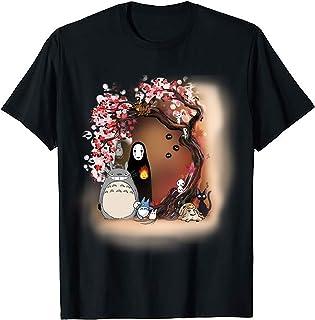 Ghibli Mononoke Spirited Away Fun Japanese Anime Animation Artwork Themed Tops Tshirt