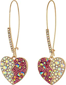 Heart Long Drop Earrings