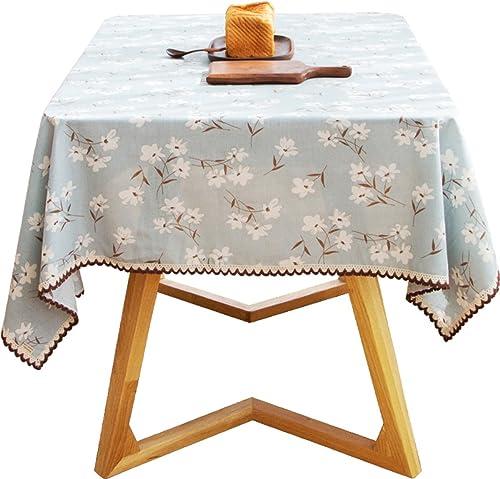 Nappe Tissu Chemin de Table Tissu Table Tissu Tissu de table Nappe de table Nappe Rectangulaire Fleurs Décor à Domicile Nappe Maison Coton (Bleu) (taille   140  200cm (55.1  78.7in))