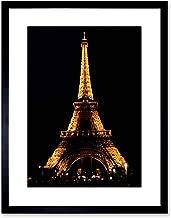 Wee Blue Coo The Art Stop Photo Landmark Eiffel Tower Paris Night Light Framed Print F97X3143