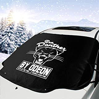 ENXIANGXIJ Anchorman Inspired Sex Panther Cologne, Trucker Cap Car Windshield Snow Cover, Ice Removal Sun Shade, Fit for Universal Cars (58'' X47'')