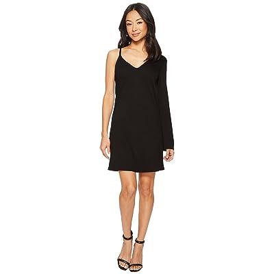Lanston One Sleeve Mini Dress (Black) Women