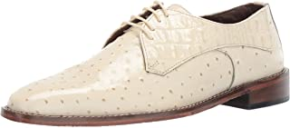 Stacy Adams Mens Russo Ostrich Print Lace-up Oxford