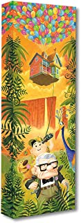 Disney Fine Art Journey to Paradise Falls by Tim Rogerson Treasures on Canvas Up 24 Inches x 8 Inches Reproduction Gallery Wrapped Canvas Wall Art