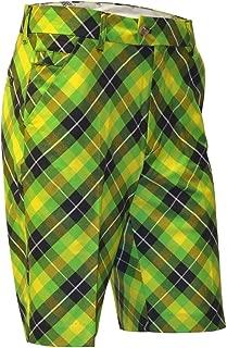 dark green shorts outfit men