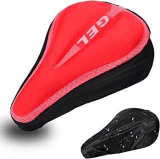 DEERU Gel Bike Seat Cover- Premium Bicycle Saddle Pad, Extra Gel Cushion- Bike Saddle Cushion, Bike Seat Cushion with Water & Dust Resistant Cover