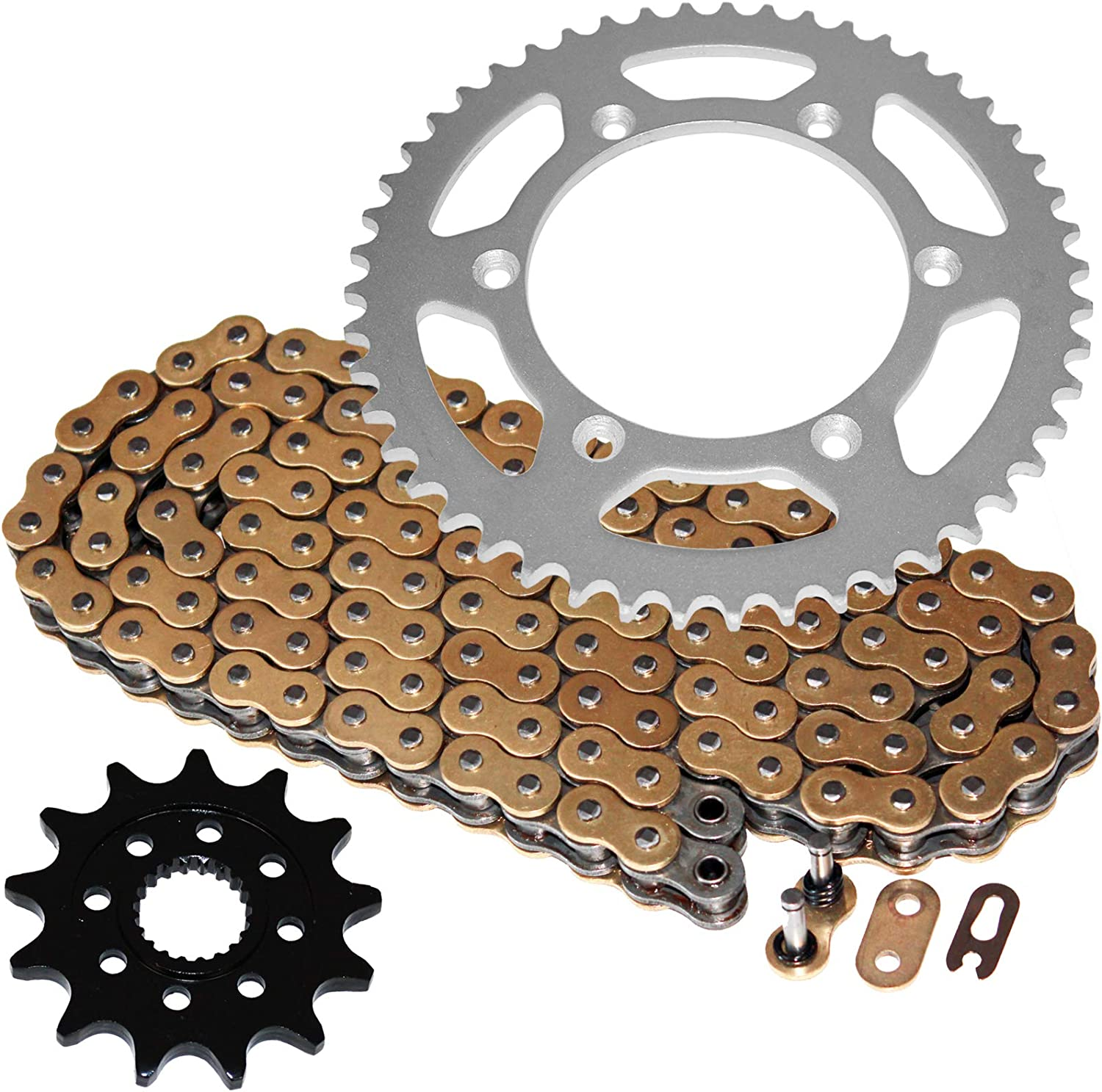 Caltric compatible with Gold favorite Max 88% OFF O-Ring Drive and Chain Sprockets Ki