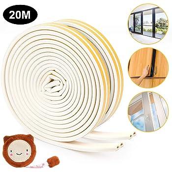 KATELUO 20 M Burletes Puertas Tira de Sellado,Tira de Sellado Junta de,Ampliamente de uso Ideal para sellar puertas,ventanas de aleación de aluminio: Amazon.es: Bricolaje y herramientas