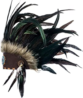 Feather Headdress   Native American Indian Inspired   Choose Color