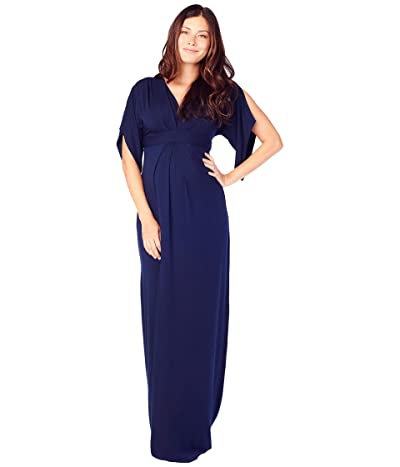 Ingrid & Isabel Maternity Kimono Maxi Dress (True Navy) Women
