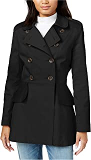 Women's Peplum-Detail Double-Breasted Trench Coat