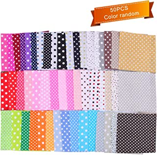 50pcs Quilting Fabric Cotton Blending Textile Craft Fabric Patchwork for DIY Sewing Random Pattern - 10x10cm