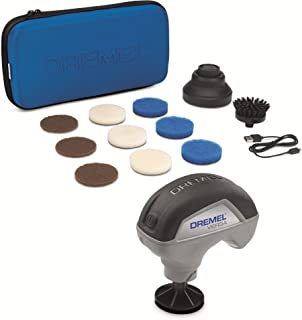 Dremel Versa Limpiador de Alta Velocidad - Kit de Limpieza con 9 Almohadillas Multifunción, 1 Cepillo de Cerdas y 1 Protec...