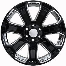 Partsynergy Replacement For Chrome Wheel Rim 20 Inch Fits 1999-2018 Chevrolet Silverado 1500 6-139.7mm 7 Spokes Chrome Insert Black 20x8.5