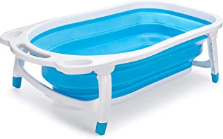 Collapsible Baby Bath Tub for Newborn Infant Child | Hypoallergenic Non-Slip Surface and Legs for Kids Safety | Bathing Made Easy and Portable by Foldable Technology