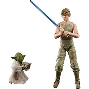 Star Wars The Black Series - Figuras de Luke Skywalker y Yoda (Jedi Training) a escala de 15 cm - Star Wars: El Imperio contraataca - Figura del 40.º aniversario