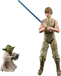 Star Wars The Black Series - Figuras de Luke Skywalker y Yoda (Jedi Training) a escala de 15 cm - Star Wars: El Imperio co...