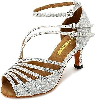351d5826413 TTdancewear Women Rhinestone Latin Salsa Performance Dance Shoes Ballroom  Dance Shoes