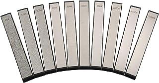Iycorish Juego de 10 Piezas Afilador de Cuchillos de Piedra de Diamante para Ruixin Afilador de Bordes Piedra de Repuesto 80-2000 Grano