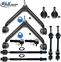 DLZ 10 Pcs Front Suspension Kit-Upper Control Arm Ball Joint Bushing Assembly Ball Joint Outer Inner Tie Rod End Sway bar Compatible with Dodge Ram 1500 RWD 2002-2005 K7424 K7411 K7400 EV407 ES3538