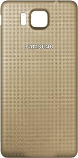 00067c450d2 Original Samsung tapa dorado Samsung G850F Galaxy Alpha (tapa de batería,  batería cubierta,