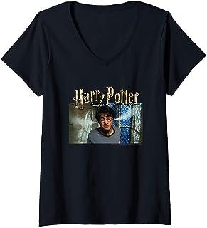 Femme Harry Potter Steam Ears T-Shirt avec Col en V