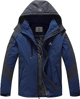 Men's Mountain Waterproof Skiing Jacket Windproof Fleece Liner Warm Winter Insulated Coat