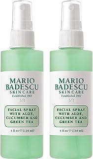 Mario Badescu Facial Spray with Aloe, Cucumber & Green Tea, 4 Fl Oz (Pack of 2)