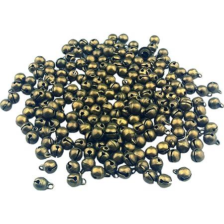 100pcs Bronze Jingle Bells 6mm Bracelet Charm Vintage Style Christmas Gift for Kids b017
