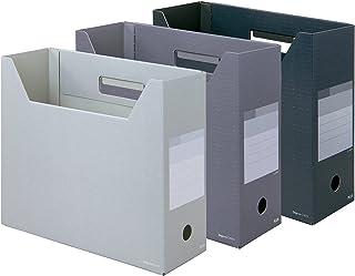 プラス ファイルボックス A4横 背幅100mm デジャヴ FL-023BF モノトーン 3色組