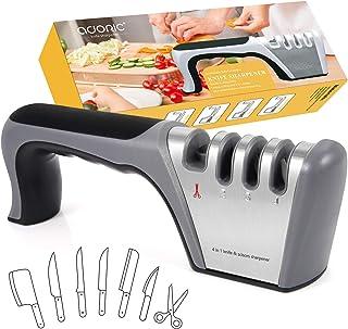 Adoric 2020 - Afilador manual de cuchillos (4 niveles)