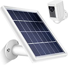 Skylety Solar Panel for Ring Spotlight Cam with Security Wall Mount, 3.6 m/ 11.8 ft Cable with Barrel Connector, 5 V/ 3.5 W (Max) Output (Not for Stick Up Cam/Arlo Cam Series) Without CAM (White)