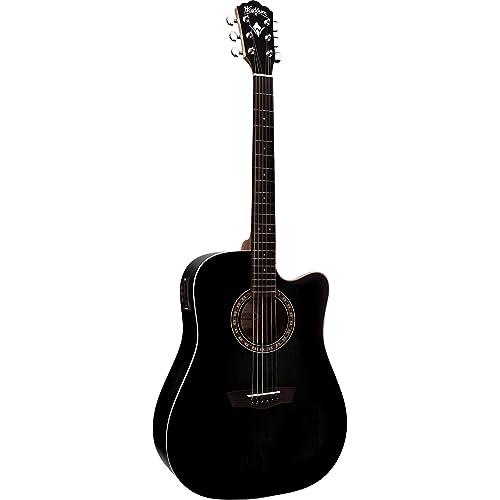 Washburn WD7SCEBM - Wd7s ce bm guitarra electroacustica negra ...