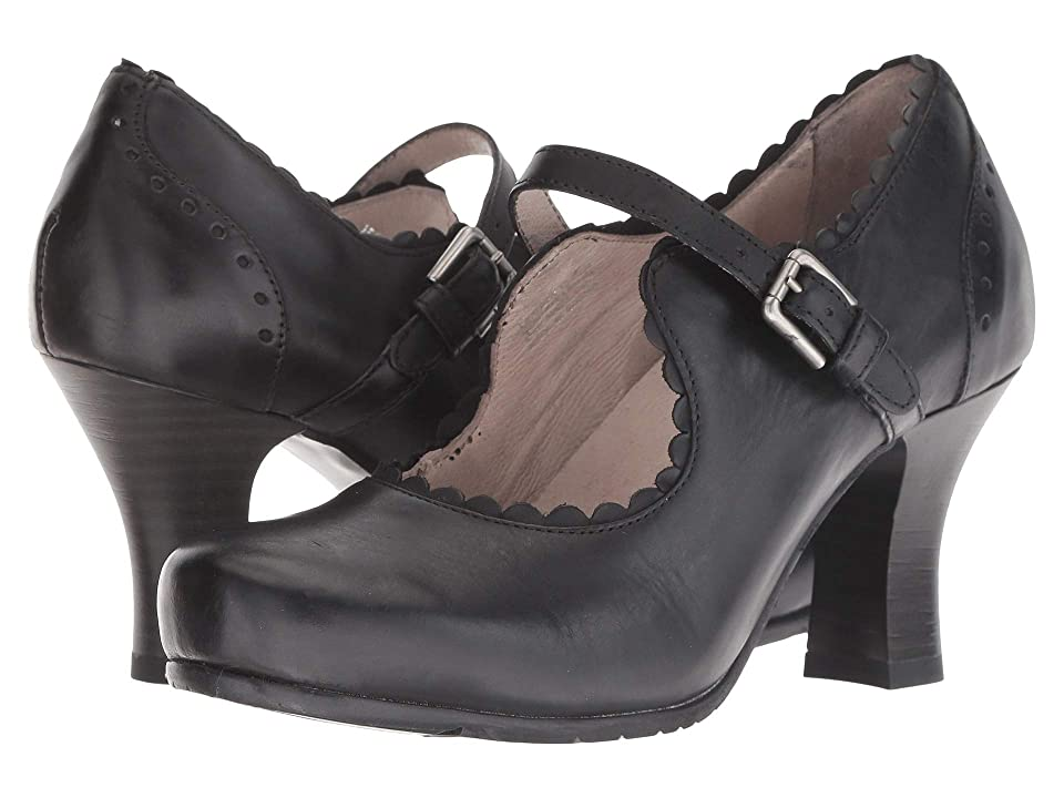 1950s Style Shoes | Heels, Flats, Saddle Shoes Miz Mooz Barcelona Black Womens Shoes $159.90 AT vintagedancer.com