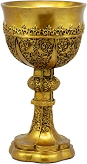 Ebros Decorative Merlin's Holy Grail The Golden Cup Of Life Chalice Ceremonial Cup Arthurian Legends