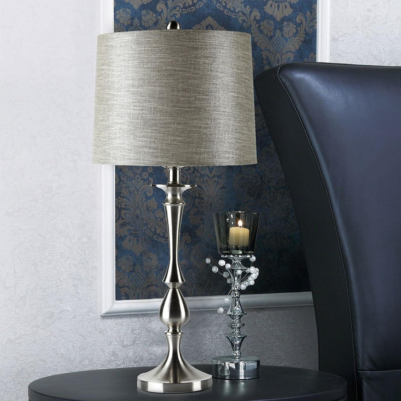 Meters Moderne Stofflampe Schlafzimmerlampe Nachttischlampe einfache und elegante kreative Persönlichkeit Wohnzimmer leuchtet FDB0070 grau Metall Lampenkörper Druckschalter B071JXBCKC       Niedriger Preis und gute Qualität