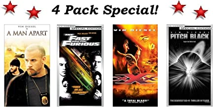 4 Pack Vin Diesel Special! A Man Apart, The Fast and the Furious, XXX & Pitch Black