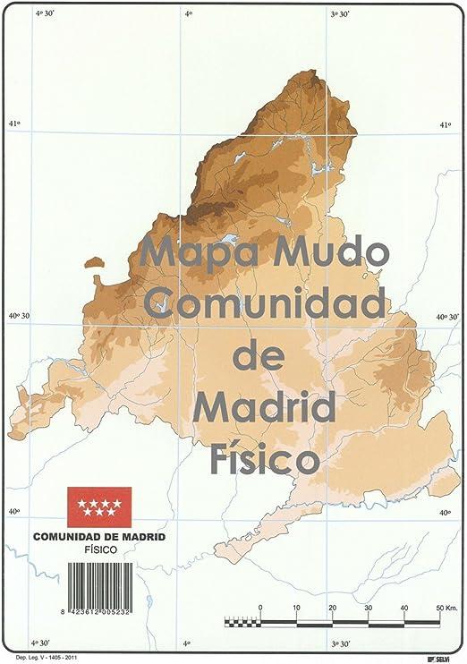 Mapa Mudo SELVI Color Din-A4 Madrid Físico, Caja x50: Amazon.es: Oficina y papelería