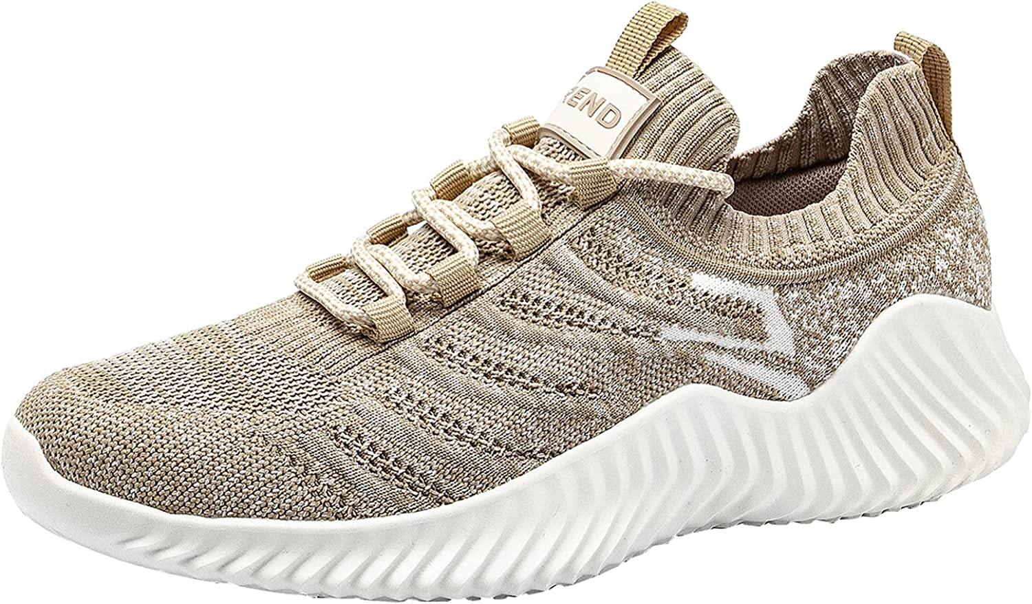 Adeliber Unisex Casual Sports Shoes Fashion Mesh Breathable Training Sneakers Outdoor No-Slip Walking Shoes for Women Comfortable Air Cushion Lightweiht Lace Up Running Shoes for Men