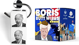 Boris Johnson Toilet Paper - Funny Printed Loo Roll in Novelty Gift Box - Brexit Special Boris Butt Wipes