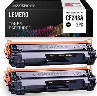LEMERO Compatible Toner Cartridge Replacement for HP 48A CF248A for Laserjet Pro M15w M15 M16a M16w Laserjet Pro MFP M29w M29a M28w (Black, 2-Pack)
