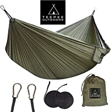 Hammock Extra Wide (Double 300x200 cm) Comfortable with Straps - Lightweight and Portable - for Camping Hiking Backpacking Travel Outdoor Indoor Beach Baby Kids Garden Yard
