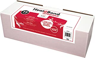 HeatnBond UltraHold Iron-On Adhesive, 17 Inches x 75 Yard Roll in Display Box, White
